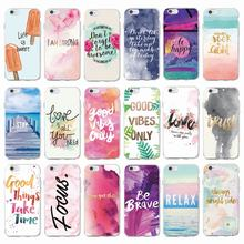 Positive Good Vibe Only Love Happy Trust Quote Soft Phone Case Fundas Cover
