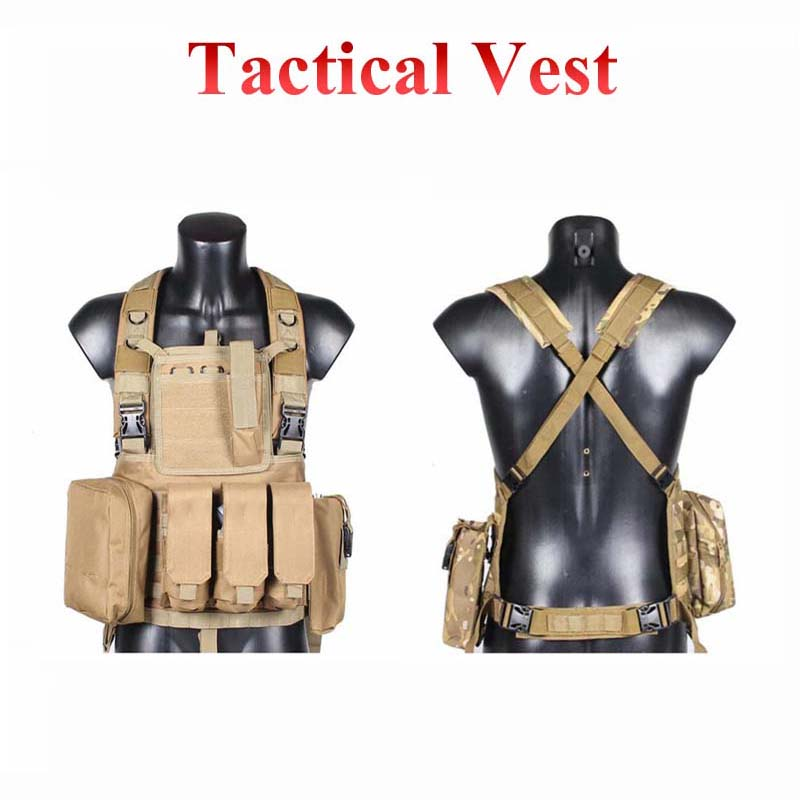 Outdoor Hunting Vest Military Tactical Vests Army Paintball Airsoft Vest CS Wargame Sport Combat Protective Equipment 7 Colors
