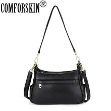 COMFORSKIN Genuine Leather Multi-layer Women Messenger Bag Large Capacity European And American Style Female Shoulder Bag Sales ms new leather european and american wind bucket bag leather hand shoulder bag messenger large capacity female bag