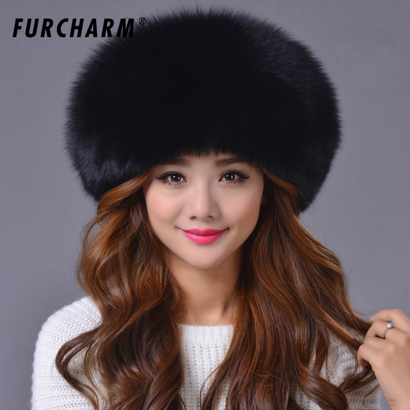 Fox Fur Genuine Leather Hat for Women Millinery Princess Hat Leather Strawhat Fox Skin Fur Hat