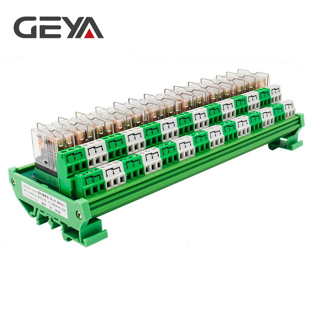 GEYA 2NG2R DPDT Relay 14 Channel Relay Module 2NO 2NC Omron Relay PLC 12V 24V AC DC rotary knob dpdt 2no 2nc 8p 0 30seconds timing time relay dc 24v ah3 2