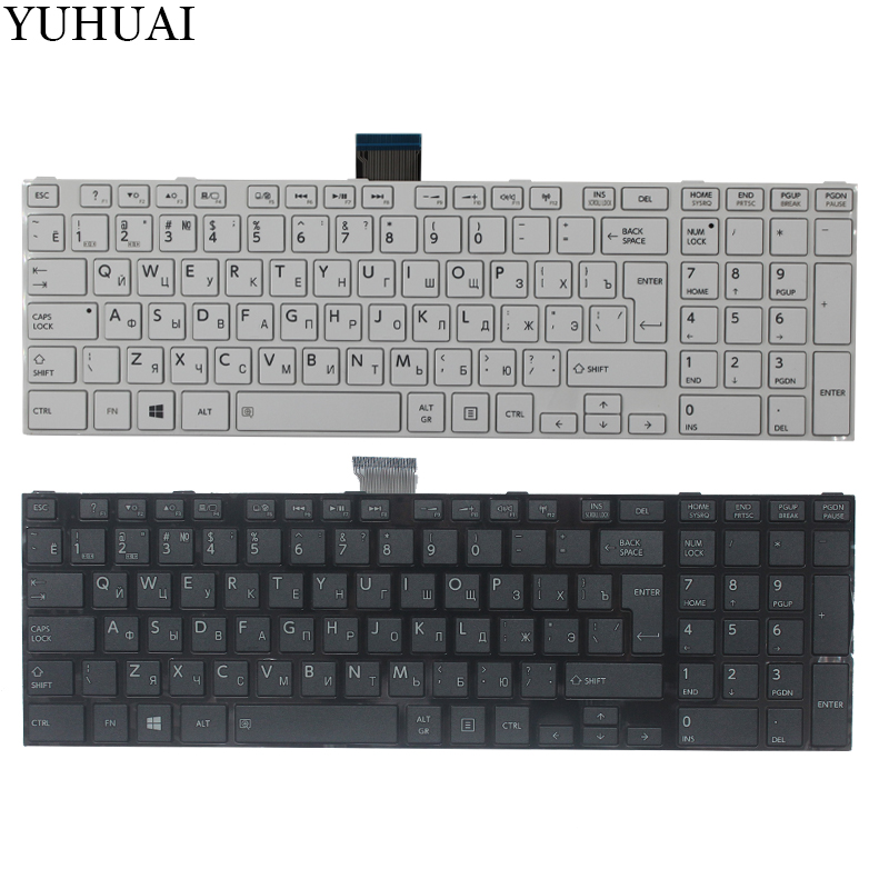 NEW Russian Keyboard for Toshiba Satellite C50 C50D C50-A C50-A506 C50D-A C55 C55T C55D C55-A C55D-A RU Keyboard for toshiba satellite c55td c50d c55d dlaptop motherboard v000325020 integrated 6050a2565601 mb a02
