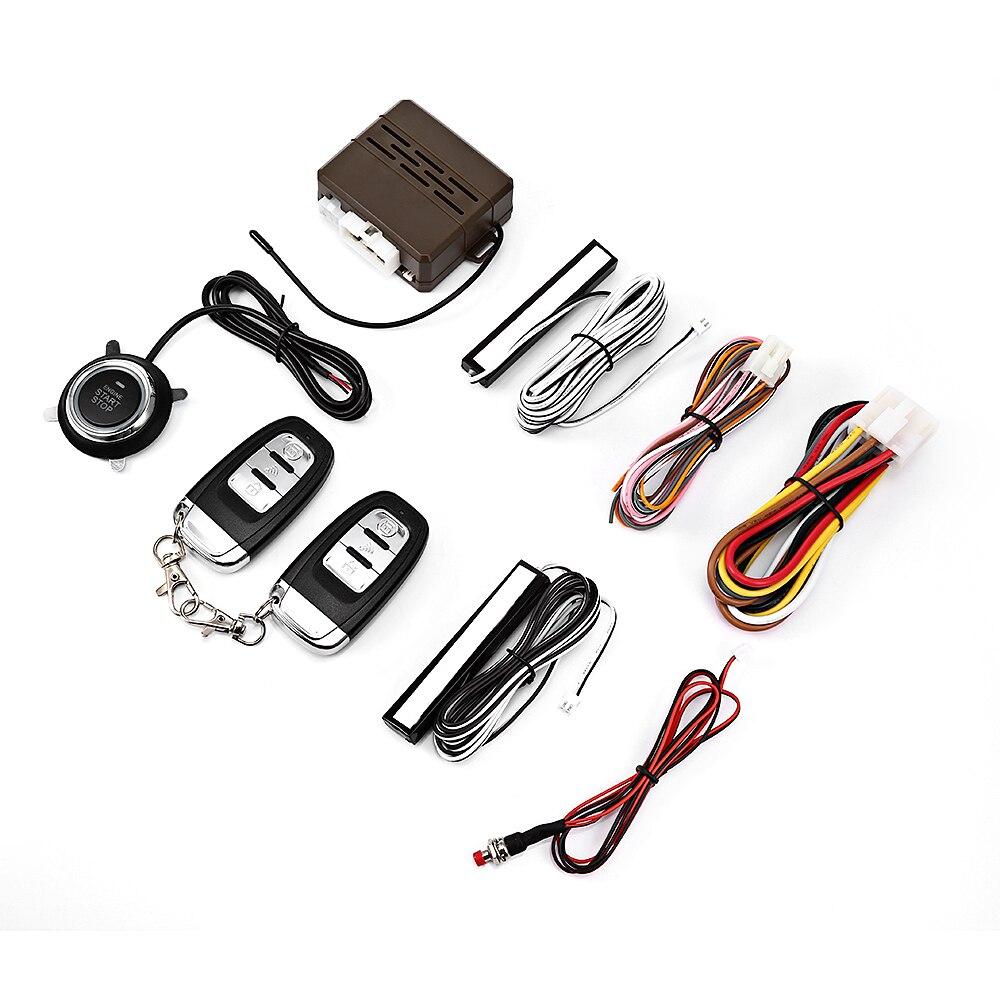E 12V Car Alarm Systems Security No Key