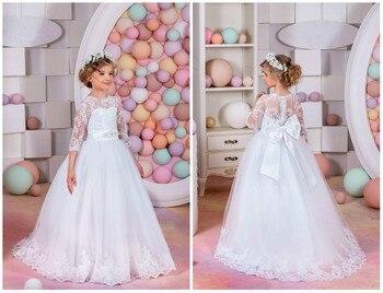 35f2b923b6f Product Offer. Элегантные sheer шеи платье с цветочным узором для девочек  свадебные для отдыха и вечеринок для подружек невесты ...