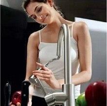 King's Аутентичные горячей и холодной потянув тип кухонный кран медь тянуть вывод кран блюдо раковина бассейна матовая коснитесь
