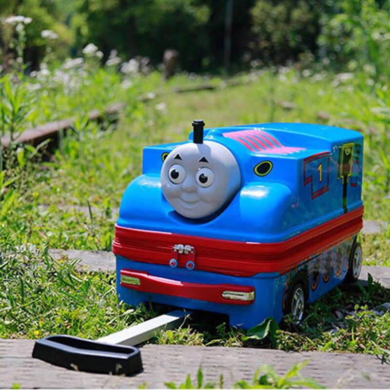 3D Train person Child Boy Girl Toys Trolley Suitcase Luggage Bag Children's Schoolbag Wheel Suitcase Travel Children's Suitcase