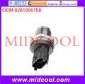 Alta calidad Auto Parts Rail Sensor de presión de combustible OEM : 0281006158