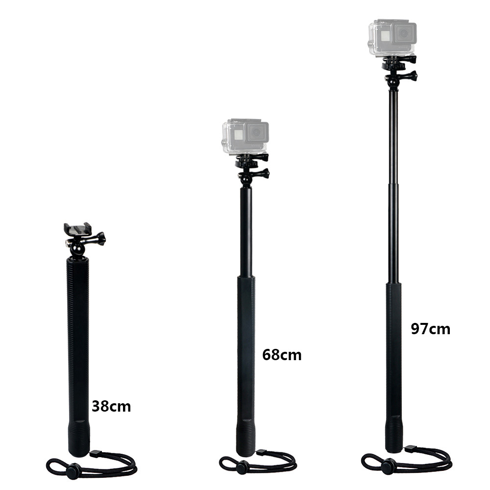 Aluminum Alloy Handheld Selfie Stick Large Monopod with Ball Head for Gopro Hero SJcam Xiaoyi Action Video Cameras in Selfie Sticks from Consumer Electronics