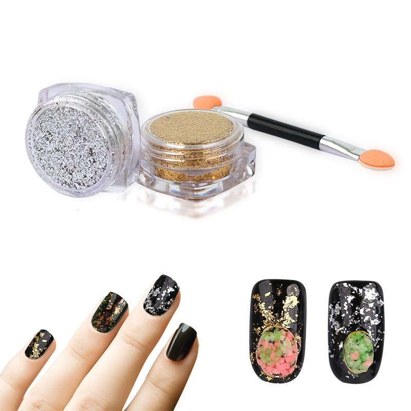 Aliexpress New Nail Art Glitter Golden Silver Dust Powder Aluminum Foil Decorations Diy Manicure Professional Accessories 2017 From