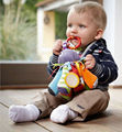 Polvo chocalho bebê macio Animal Plush Toy com Safty espelho som BB cama pendurar