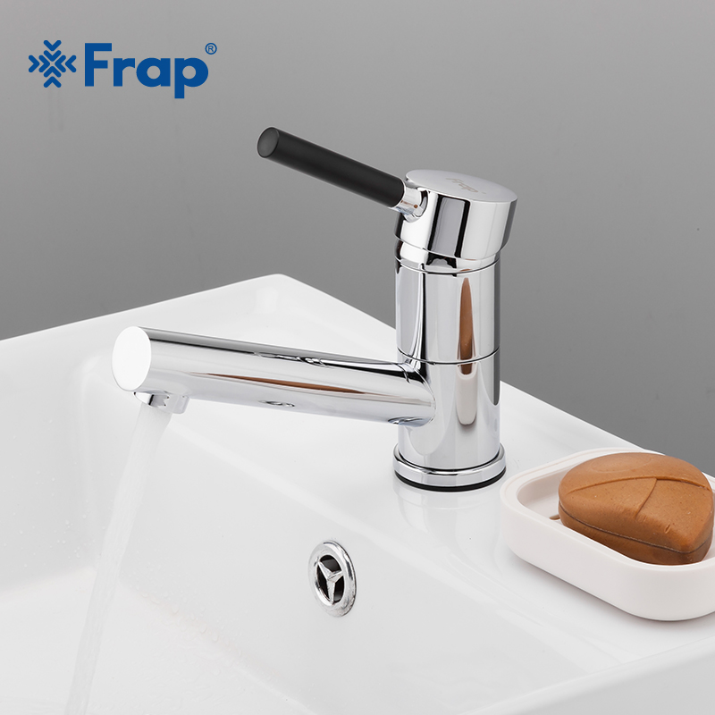 FRAP Chrome Basin Faucet Single Handle Kitchen Bathroom Sink Hot And Cold Water Mix Faucets Washbasin Tap Deck Mounted F4544