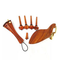 4/4 Violin Accessories Rosewood Fittings Tailpiece Chinrest Pegs Endpin Screw Hill Shape