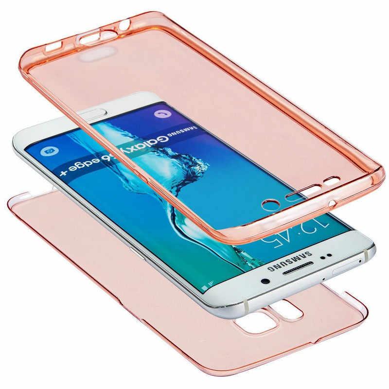 360 קדמי + חזרה TPU רך מלא מקרה לסמסונג גלקסי M10 M20 A10 A30 A40 A40S A50 A5 A6 a7 A8 בתוספת J4 J6 2018 כיסוי טלפון מקרה