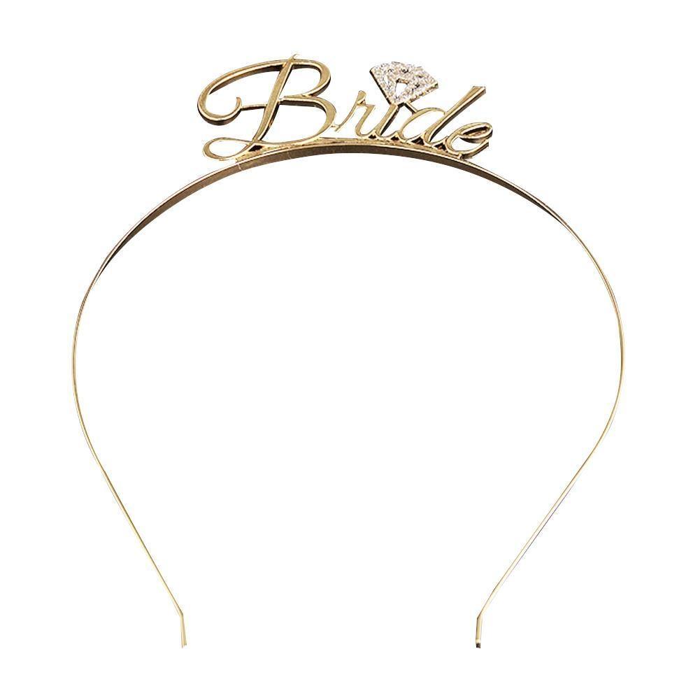 Bride To Be Tiara Crown Headband Rhinestone Crystal Hairband Bachelorette Party