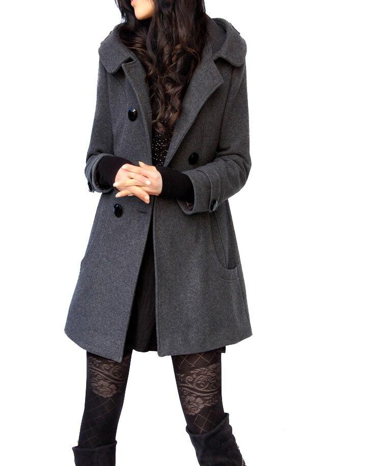 Casual medio chaqueta abrigo 2