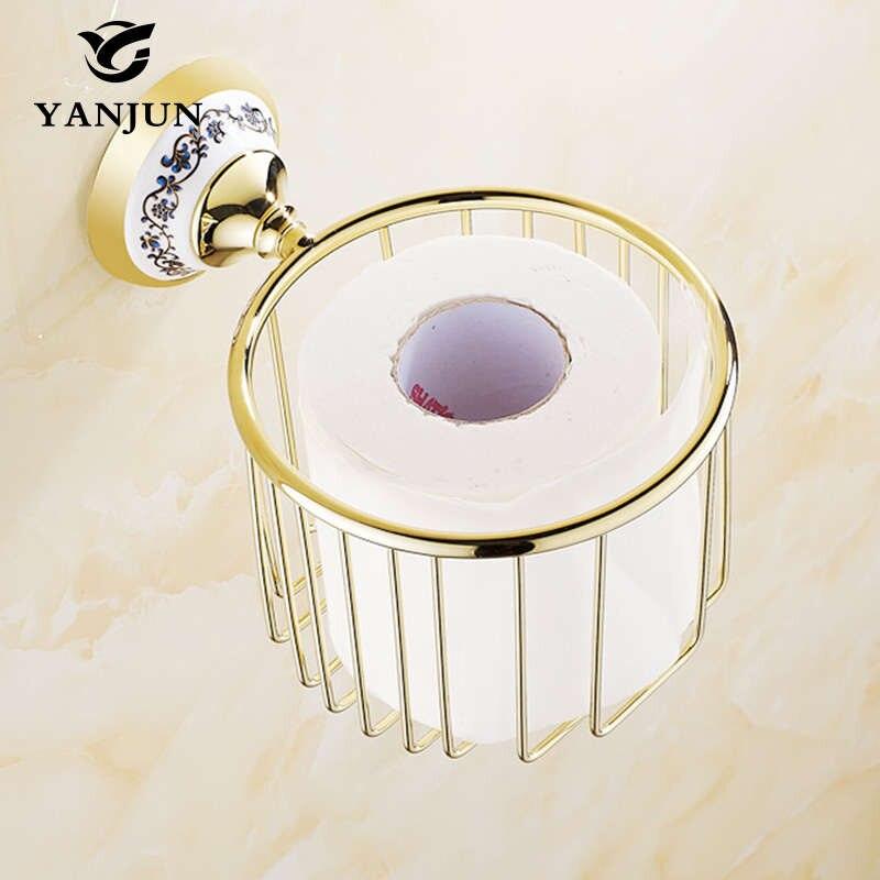 Yanjun gold silver brass chrome plated bath towel holder - Chrome plated brass bathroom accessories ...