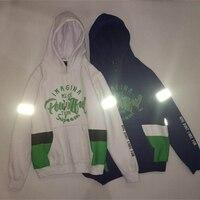 YouthCodes 3M Reflective Hoodies Men Cotton Leaf Weed Hip Hop Navy Blue Printing Streetwear Justin Bieber Sweatshirt Men Winter