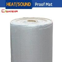 Barato Cawanerl, 400CM X 100 CM, lámina de aluminio para coche, protección contra el sonido, protección contra el calor, alfombrilla aislante, amortiguador de alfombra