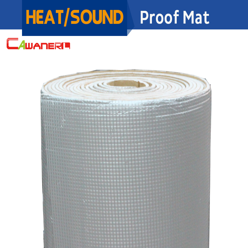Cawanerl 400 CM X 100 CM feuille d'aluminium voiture insonorisation bouclier thermique tapis d'isolation tapis de blocage Deadener