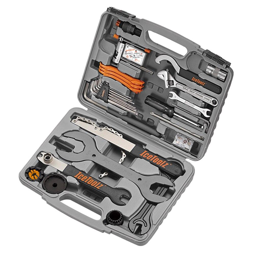 IceToolz 82A6 Pronto trousse à outils vélo vélo vélo cr-mo CNC outils d'ingénierie 46 en 1 multifonction cyclisme réparation boîte à outils