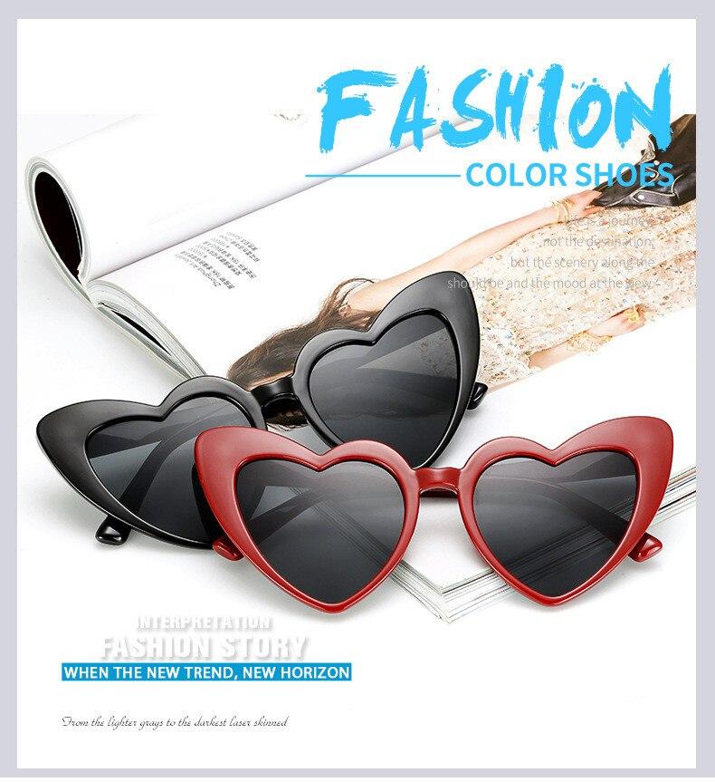 aef1dfb3fde ZXWLYXGX 2018 New Fashion Love Heart Sunglasses Women cute sexy retro Cat  Eye Vintage cheap Sun ...