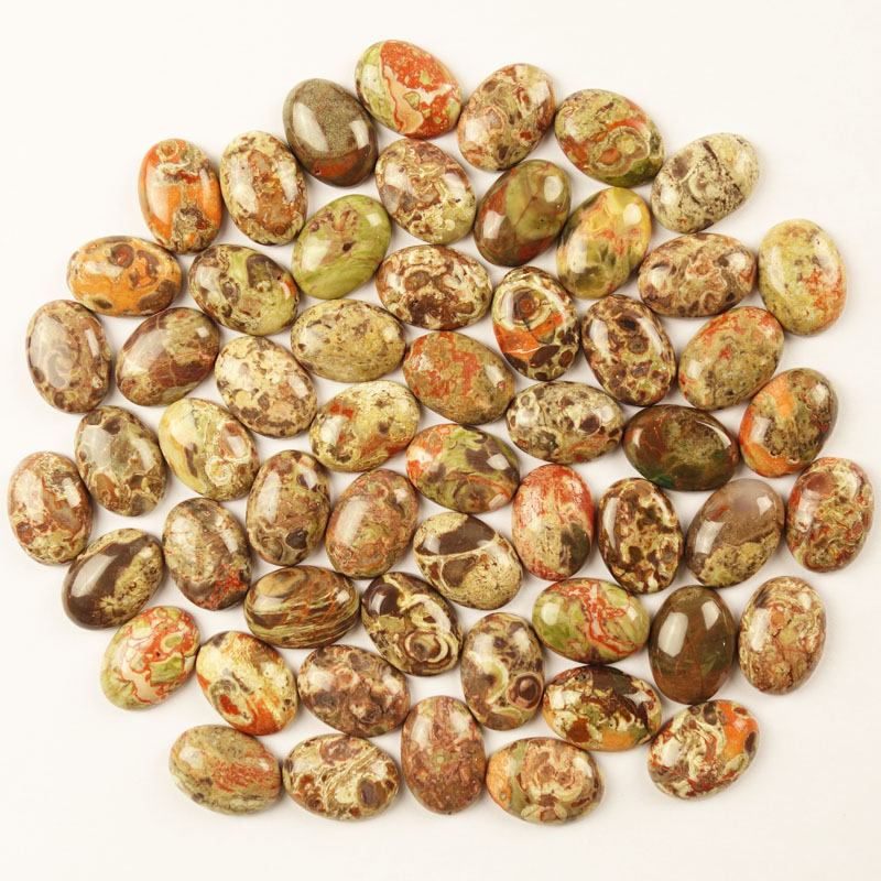 (20 pieces/lot) Wholesale Natural Blossom Agates Oval CAB CABOCHON 25x18x6mm Free Shipping Fashion Jewelry XSJ171025