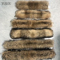 Women Scarves 100% Natural Fur Collar Real Raccoon Fur fashion Winter Coat Female Neck Cap Long Warm Genuine Fur Scarf Big Size