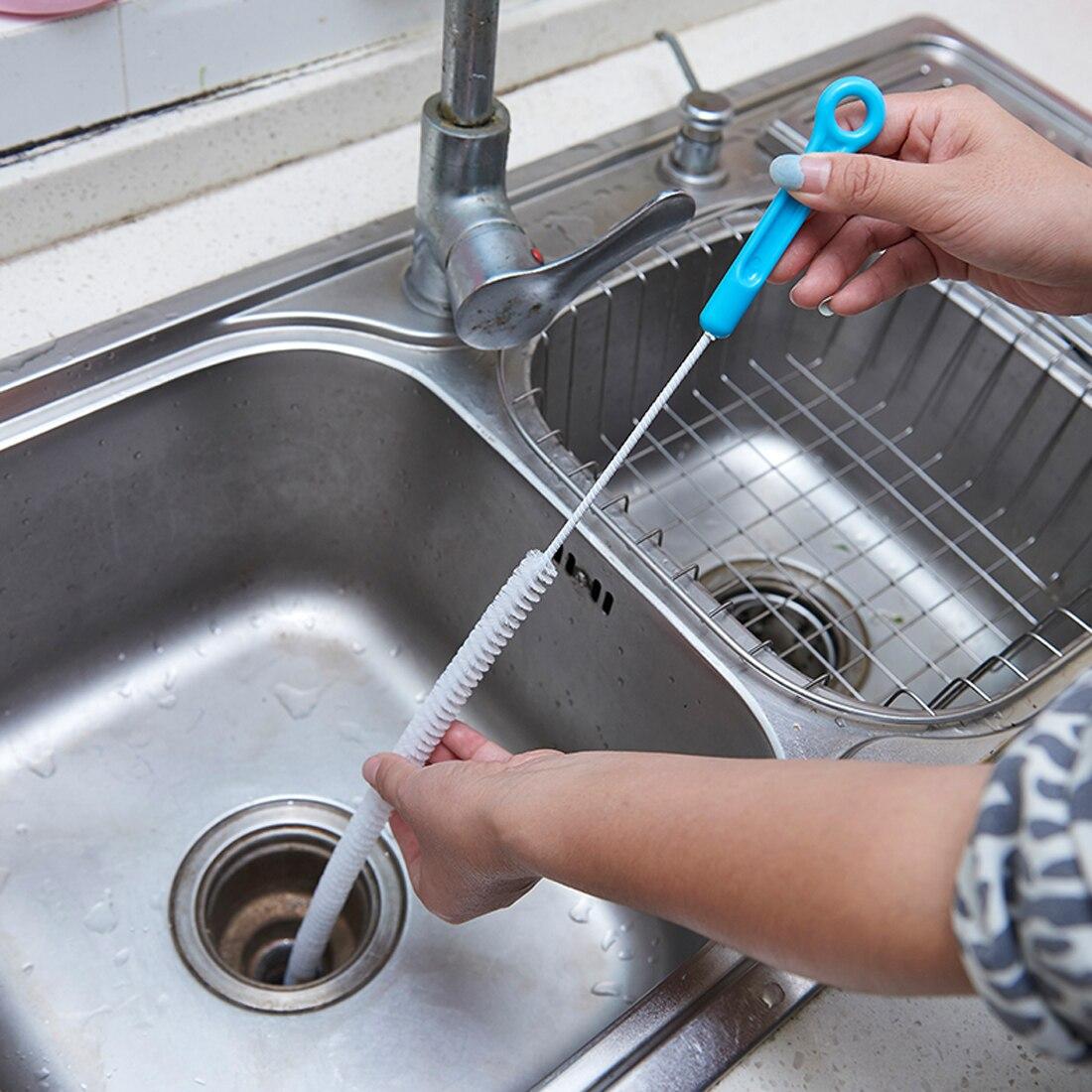 Home Biegsamen Sink Tub Wc Dredge Rohr Schlange Pinsel Werkzeuge Kreative Bad Küche Zubehör Kanalisation Reinigung Pinsel Haus & Garten