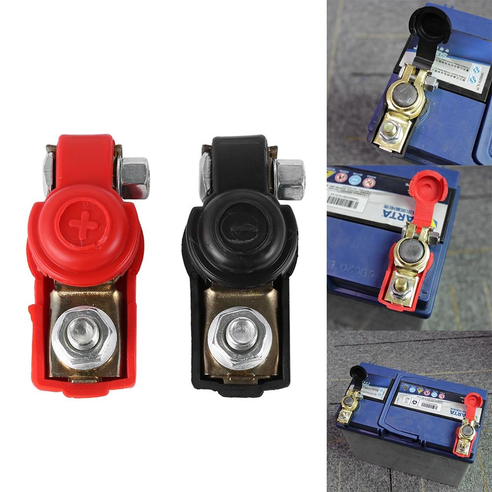 Dropshipping 2 Pcs 12v Car Battery Terminals Clamps Pair Screw