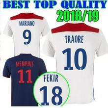 f4cc8a3b3 2018 2019 melhor qualidade jersey Lyon 18 19 Lyon camisa de futebol adulto  survêtement camisetas camisa 2019 Homens Olympique Ly.