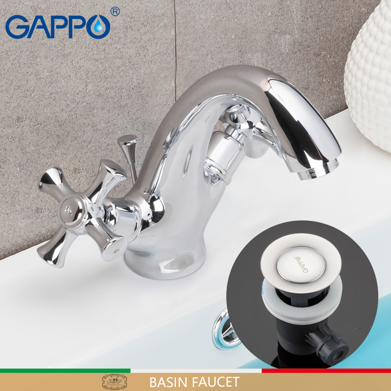 GAPPO basin faucets chrome basin mixer faucet for bathroom sink faucets waterfall bathroom faucet mixer tap torneira tapware