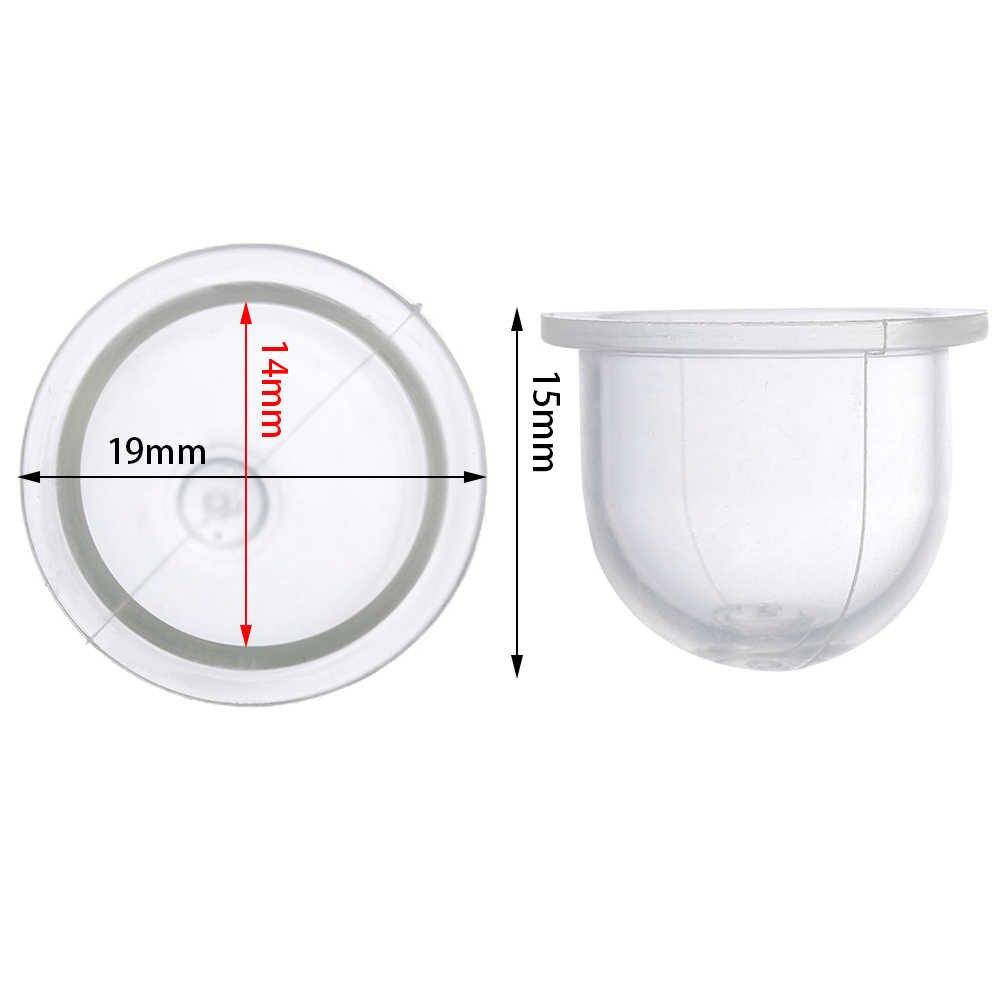 10PC Weiß Transparent Kraftstoff Pumpe Vergaser Öl Blase Primer Birne Kettensägen Trimmer Pinsel Cutter Klare Werkzeug 14-19mm