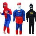 Fantasia Infantil Menino Novo Criança Crianças Menino Muscular Superman Homem Aranha Batman Fantasias Meninos Spiderman Disfraces Infantiles