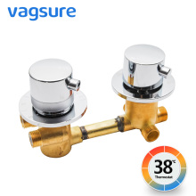 Vagsure 2/3/4/5Ways Outlet Brass Mixing Valve Diverter Thermostatic Shower Faucets Tap Temperature Mixer Control Screw Bathroom smesiteli wholesale and promotions all brass chrome mixing valve thermostatic shower system water temperature control g1 2