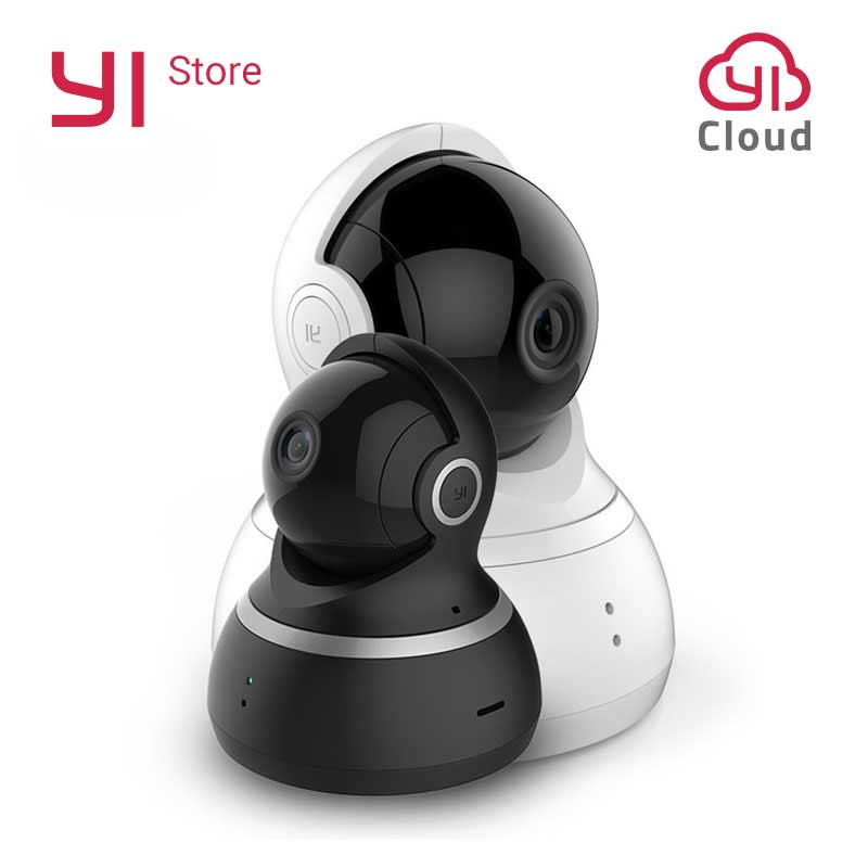 yi dome camera ip 1080p wifi wireless alarm callback home security surveillance system 360degree coverage night vision eu cloud YI Dome Camera IP Cam 1080P Pan/Tilt/Zoom Wireless Security Surveillance System Complete 360 Degree Coverage Night Vision EU/US