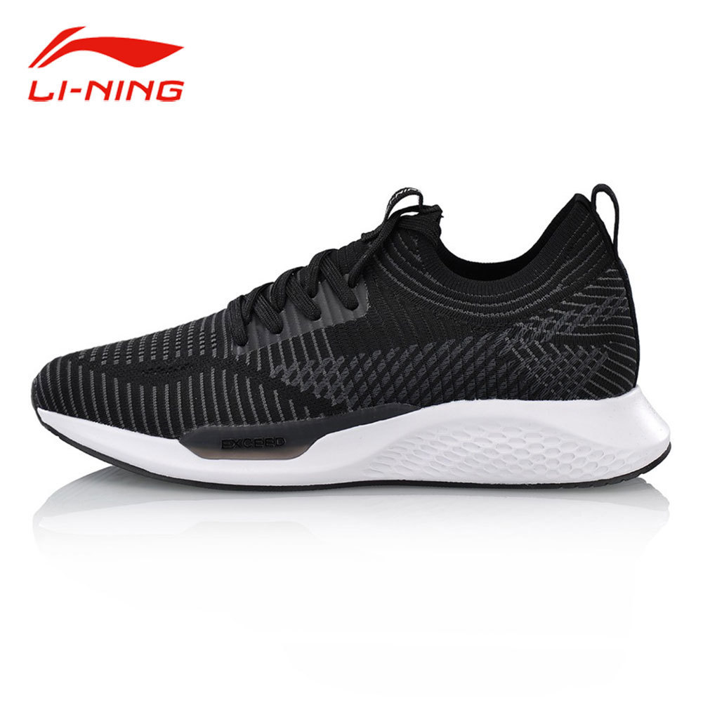 Li-Ning Women Classic Light Weight Walking Shoes Mono Yarn Breathable Comfort Sneakers LiNing EXCEED LT Sports Shoes AGCN048 li ning women gel knit classic walking shoes wearable anti slippery sneakers mono yarn lining sports shoes agln044