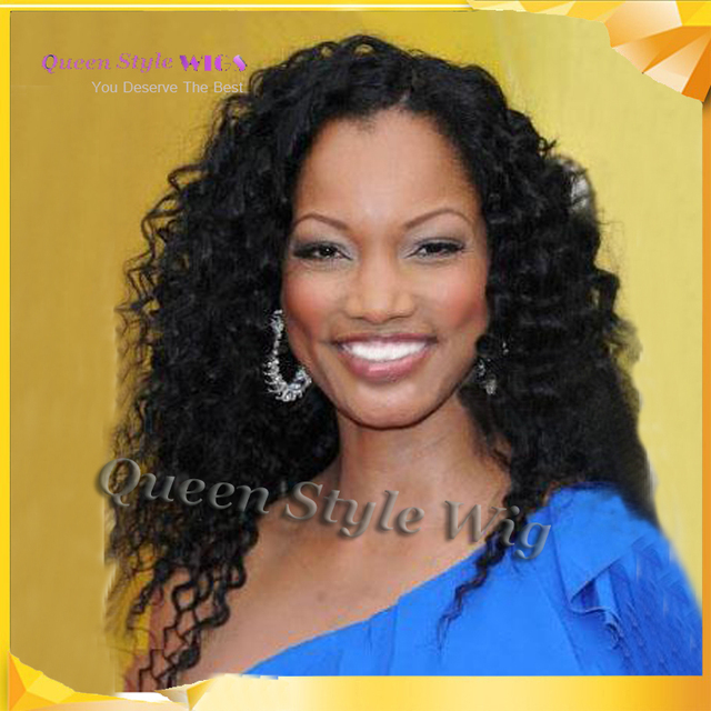 Us 45 0 Custom Newest Long Curly Perfect Prom Hairstyle 18 Inches Lace Front Cap Black Wig African American Curly Hairstyles Wigs On Aliexpress Com