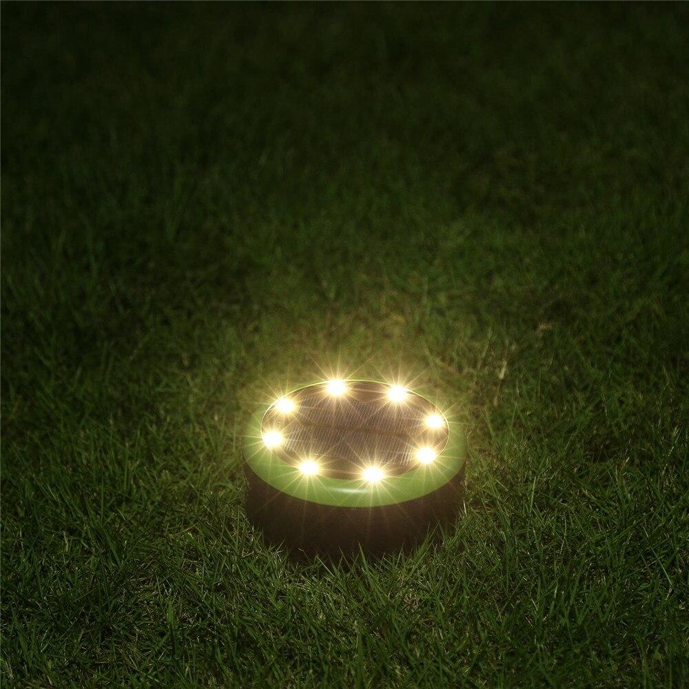 gramado lâmpada subterrânea caminho deco luzes quintal
