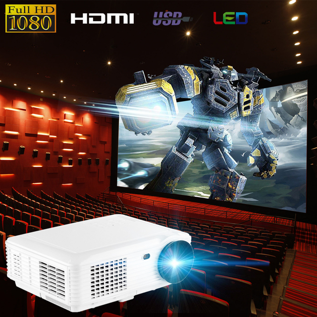 Best Price SV-226 1080P Mini Portable Projector Office Teaching Projector 800 X 600 Pixels Home Theater with AV VGA cable