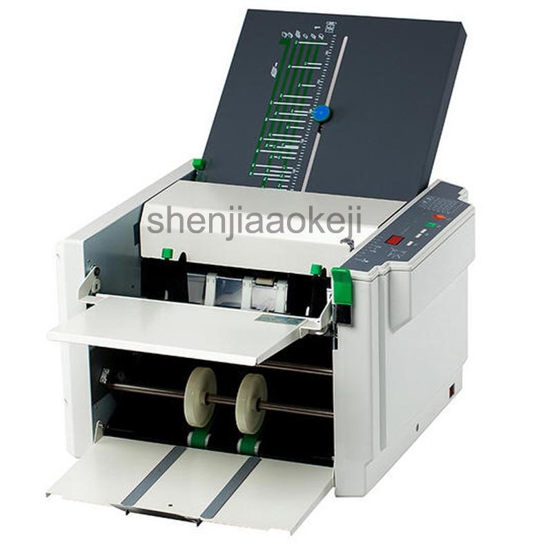 RD 297 Automatic Paper Folder Machine Electric Folding Machine Crease Machine Stacker Folding Machine 220V 50Hz