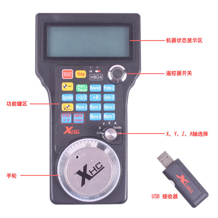 Free shipping xhc hb04 wireless 4 axis mach3 usb cnc controller mpg free shipping xhc hb04 wireless 4 axis mach3 usb cnc controller mpg pendant handwheel in handwheel from tools on aliexpress alibaba group aloadofball Choice Image