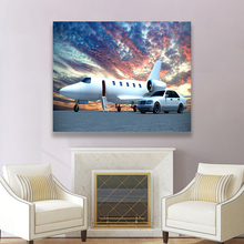 Laeacco Canvas Painting Calligraphy Abstract Posters Prints Car Plane Wall Art Pictures for Living Room Home Decoration