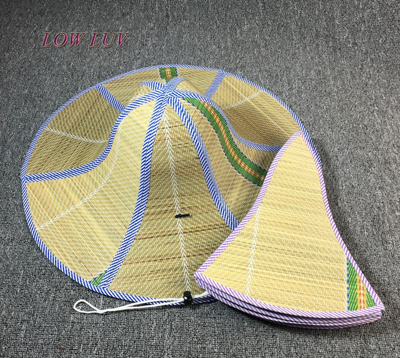 Hainan big along the straw hat men and women summer tide can be folded sun hat farmer hat fisherman straw hat