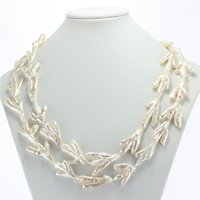 SNH 10 18mm AA chicken claw 47inches women natural pearl necklace