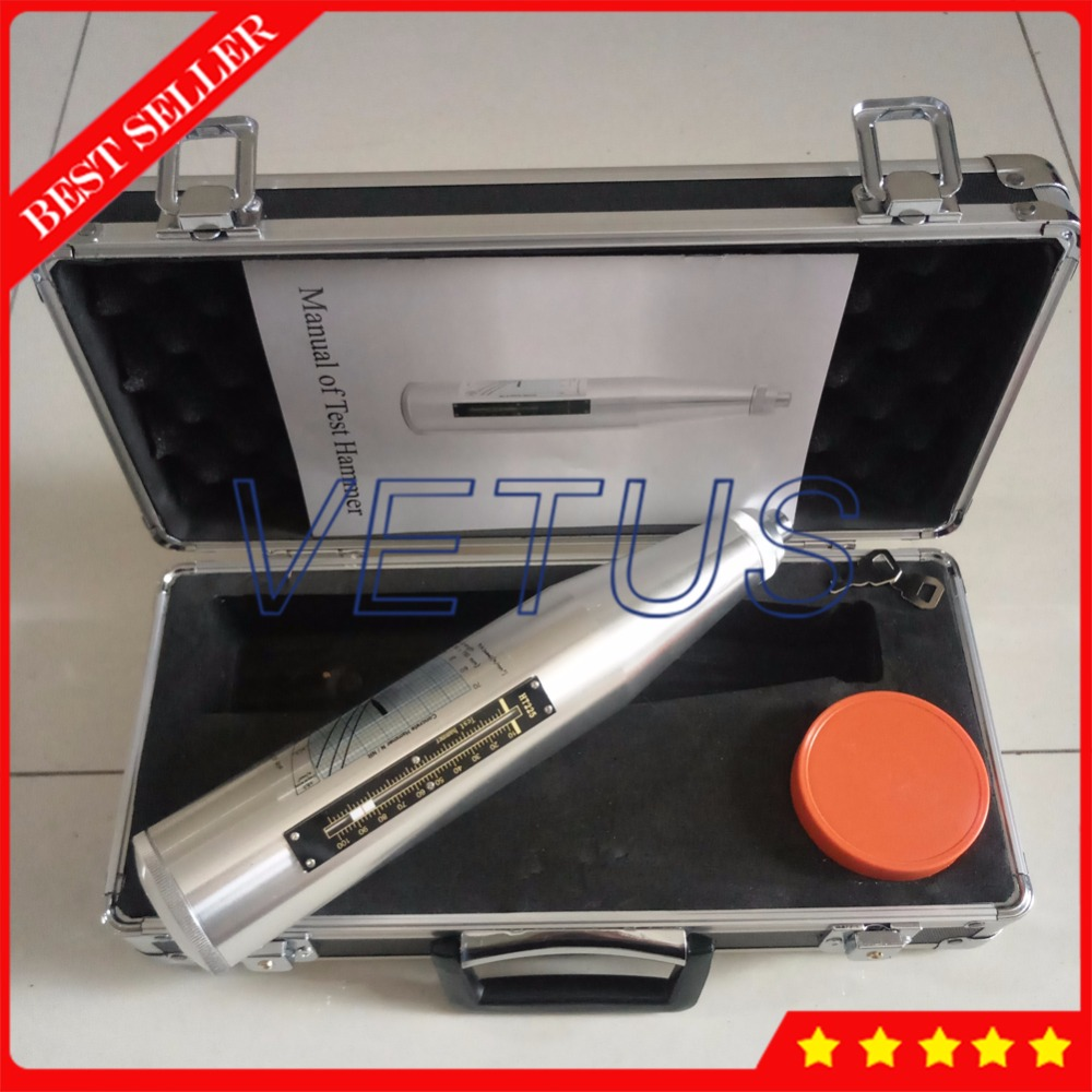 HT225 High Quality Rebound Hammer with resiliometer Schmidt Concrete Test Hammer bridge compressive strength measure HT-225 цена 2017
