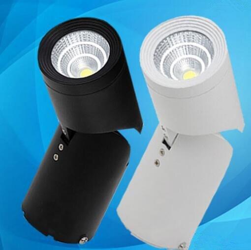 Livraison gratuite 15 W COB Led downlights Surface monté plafonnier lumière 180 degrés Rotation plafond Downlight AC85-265V