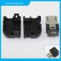 10 pcs micro usb 2.0 tipo de tipo de solda 90 graus masculino jack plug conector 3 em 1 conector diy preto para od3.0mm v8 cabo otg