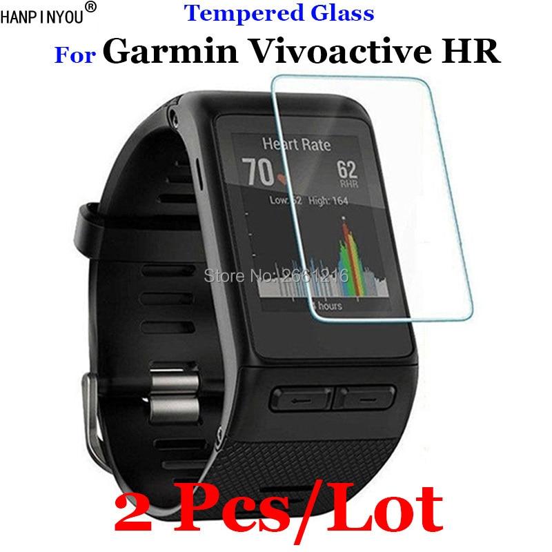 87545dab9b79 2 unids/lote para Garmin vivoactive HR vidrio templado 9 h 2.5d protector  de pantalla Premium Películas para Garmin vivoactive HR smartwatch