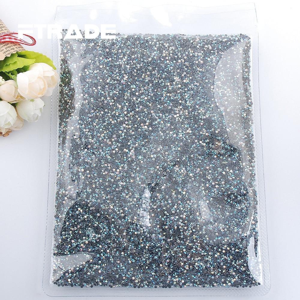 Super Crystal AB SS6 SS10 SS16 SS20 SS30 Wholesale Hot Fix Rhinestones Glitter Crystals DIY Flat