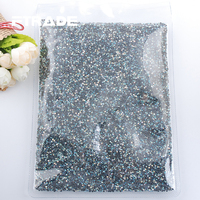 Super Crystal AB SS6 SS10 SS16 SS20 SS30 Wholesale Hot Fix Rhinestones Glitter Crystals DIY Flat Back HotFix Stones Decor Strass